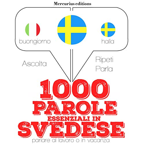 1000 parole essenziali in Svedese audiobook cover art