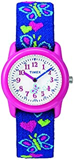 Timex Analog Youth Watch - Kidz Analog | Pink Case with Butterfly Design