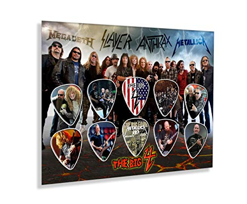 We Love Guitars Big 4 Metallica Slayer SE Ungerahmte Gitarren Pick Display Plektren