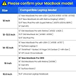 tomtoc Recycled Laptop Sleeve for 13-inch MacBook Air M1/A2337 2018-2021, MacBook Pro with USB-C M1/A2338 2016-2021, 12… 12 CornerArmor Patent Design - Protective CornerArmor patent design at the bottom of the case and 360° protective soft padding around inside protect your laptop from bumps in accident, just like the Car Airbag Stay Organized – Except the main compartment for your laptop, this case also features a second large zipper compartment for additional storage such as iPad mini, charger, power adaptors, cables, mouse and other accessories Ultra-Secure – Specially designed secure belt with Velcro inside the 180° opening main compartment protect your laptop from sudden drop. Ultra-thick protective cushioning interior ensures your laptop from bumps, dents, scratches and spills at all times