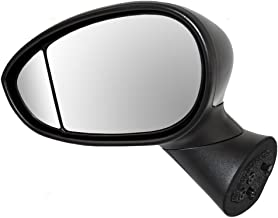 Drivers Power Side View Mirror Heated wi/Blind Spot Glass Type 1 Replacement for 12-17 Fiat 500 68087589AC AutoAndArt