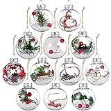 Auihiay Lot de 12 boules de Noël en plastique transparent incassables...