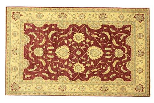 Afghan Chobi Ziegler 304x209 Handgeknüpft Teppich 210x300 Rot Floral
