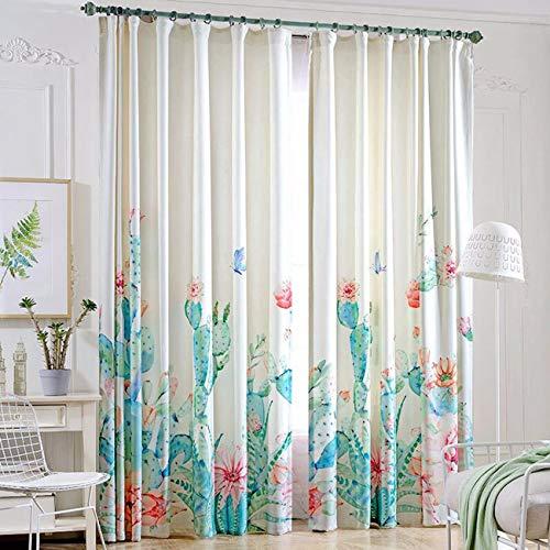 WBXZAL-Rideaux Le Salon De Style Nordique Moderne De Chambre Simple Rideau De Tissu Fini, Petites Clairement Une Nouvelle Fenêtre Rideau,190,À