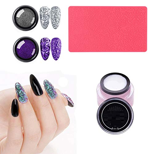 Nail Art Stamping Templates 4D Sculpture Nail Art Mold Set Silicone Nail Art Tools DIY Nail Art (C)