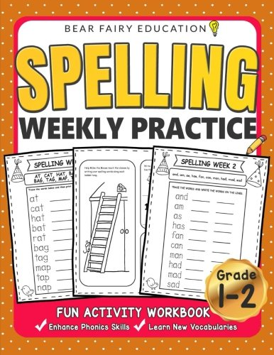 Compare Textbook Prices for Spelling Weekly Practice for 1st 2nd Grades, Activity Workbook for Kids, Language Arts For Kids: Grade 1 Workbook, Grade 2 Workbook  ISBN 9781983851551 by Fairy Education, Bear
