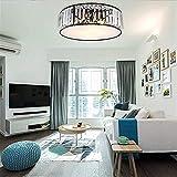 Retro mini lámpara de pared Lámparas de techo modernas de techo integrado pendiente de la luz de la lámpara, la lámpara de techo redondo cristalino de la sala dormitorio de la lámpara de techo de cris