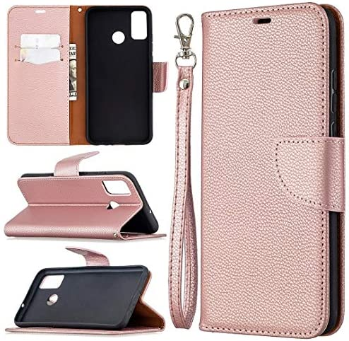 for leleidianpu TL for Huawei Honor 9X Lite Litchi Texture Pure Color Horizontal Flip PU Leather product image