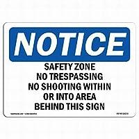 壁芸術装飾OSHA通知サイン-安全地帯は、警告サインの範囲内で撃たれません