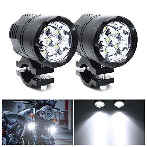 Biqing 2 Stück Universal 60 W Motorrad Scheinwerfer LED Scheinwerfer 6 LEDs Motorrad Fahren Nebelscheinwerfer Zusatzlampe Tagfahrlicht 12 V 24 V Fit für Trikes/Quads/Bike/Autos/LKW/Boot