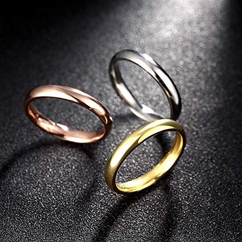 『Rockyu ジュエリー ブランド 3連リング レディース 指輪 チタン ダイヤ 金 18k ピンクゴールド シルバー』の3枚目の画像