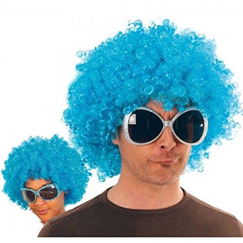 Party Pro- Perruque, Unisexe Adulte, 865515, Turquoise, Taille Unique