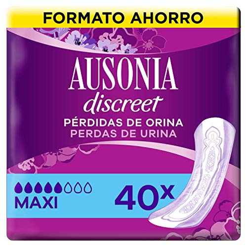 Ausonia Discreet - Assorbenti per perdite di urina Plus Maxi per vesciche iperattive x 40