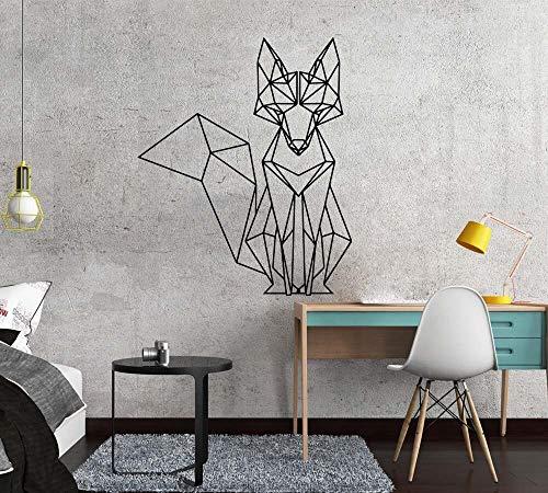 Jsnzff Nórdico geométrico Zorro Vinilo Etiqueta de la Pared calcomanías habitación de los niños decoración del Dormitorio del hogar Sala de Estar decoración Mural Etiqueta de la Pared 58x70 cm