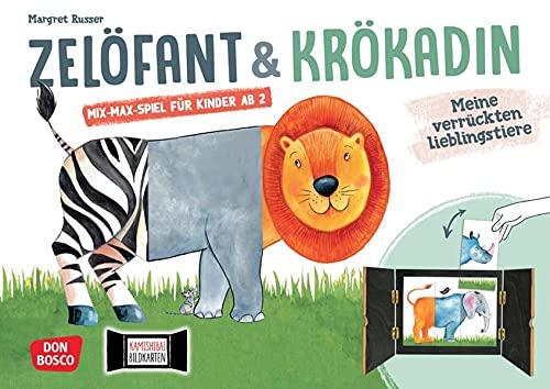 Zelöfant und Krökadin: Meine verrückten Lieblingstiere. Kamishibai Bildkartenset: Mix-Max-Spiel für Kinder ab 2 Jahren. Entdecken - Erzählen - ... die Kita (Spiele im Erzähltheater Kamishibai)