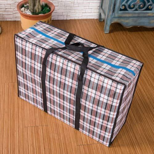 WFFF Bolsa de almacenamiento gigante portátil, reutilizable, grande, bolsa de almacenamiento de la compra, caja de almacenamiento de lavandería, bolsa de equipaje con cremallera