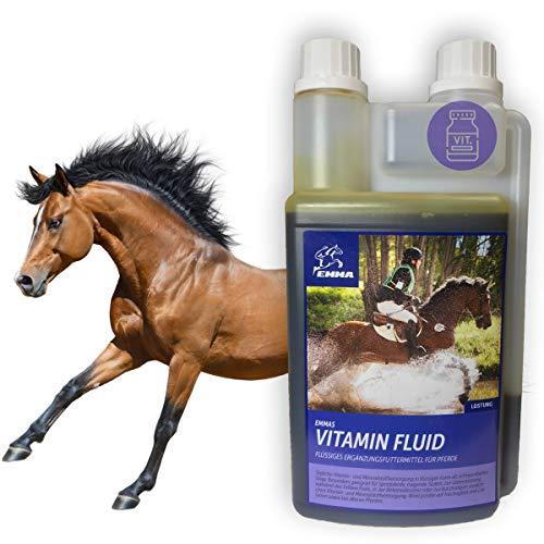 Vitamine für Pferde I Mineralstoffe I Vitamin b komplex I VIT A D E b12 I Mineralfutter I Folsäure Selen Eisen Zink I Immunsystem stärken I Vitaminmangel Senior Zucht-Stute Fohlen Pferde 1L
