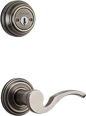Kwikset 967AVLRH-15S Right Hand Avalon Interior Double Cylinder Handleset Trim Smart Key Satin Nickel Finish