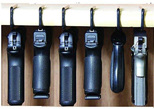 Safety Solutions for Gun Storage Pack of 6 Original Pistol Handgun Hangers (Hand Made in USA) (6 Hangers)
