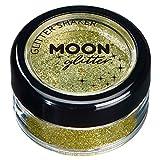 Barattolino glitter fini della Moon Glitter – 100% Cosmetico per viso, corpo, unghie, capelli e labbra - 5gr - Oro