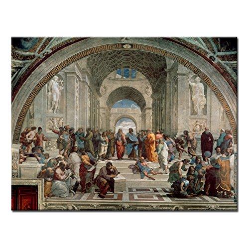 """Wandkings Leinwandbild\""""Die Schule von Athen\"""" von Raffael / 120 x 90 cm / auf Keilrahmen"""