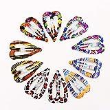 ZYJ 10/12PCS / Set Imprimir Pinzas de Pelo geométricas Niñas Horquillas Lindas Diademas Coloridas para niños Accesorios para el Cabello,3