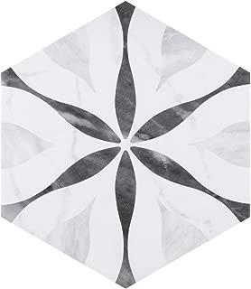SomerTile FEQ8BXF Murmur Bardiglio Hexagon Porcelain Floor and Wall Tile, 7