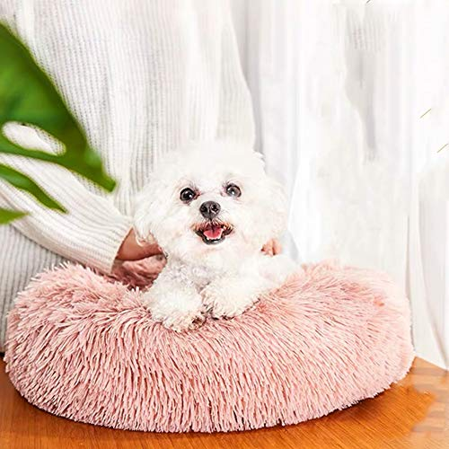 Beruhigendes und bequemes Donut-Katzenbett aus Plüsch, warm, Marshmallow, rund, Hundekissen, Nest, atmungsaktives Kunstfell