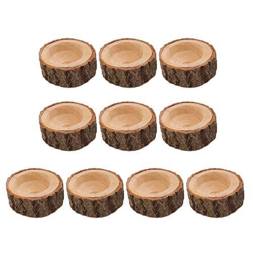 perfeclan 10 Pezzi Portacandela Candeliere Candelabro Supporto Candela Ceppo Abbellimenti Fai da Te - 6x2.5cm