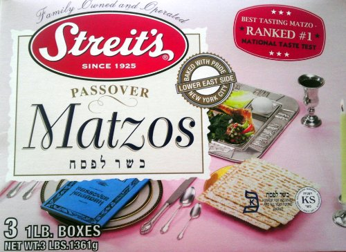 Streit's Matzo, Kosher for Passover Matzoh Crackers, Airy, Crispy Crackers, 1 Pound (5 Pound)
