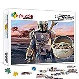 Star Wars Mandalore Yoda Jigsaw Puzzle de 500 piezas para adultos, rompecabezas de juguete intelectual, divertido juego familiar para niños y adultos de 20.5 x 14.5 pulgadas