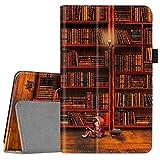 FINTIE Folio Funda Compatible con Fire 7 (9.ª Generación - Modelo de 2019) - Slim Fit Carcasa de Cuero Sintético con Función de Soporte y Auto- Reposo/Activación, Biblioteca