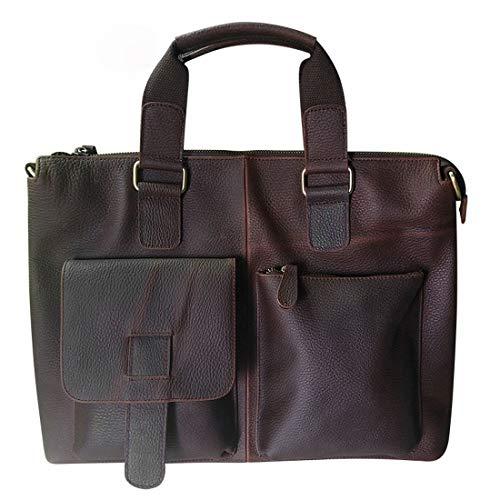 Xasclnis Vintage Aktetas Zakelijke Handtas Paard Lederen Schoudertas Messenger Bag Zadeltas