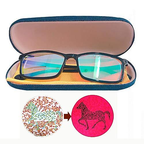 Farbenblinde Gläser Color Blind Brille Schutzlinse Anti UV Farbenblind Sehkraftverbesserung Rot-grüne Farbblindheiten Verbessern Sie Auflösung Von Color Vision Männlich/Weiblich