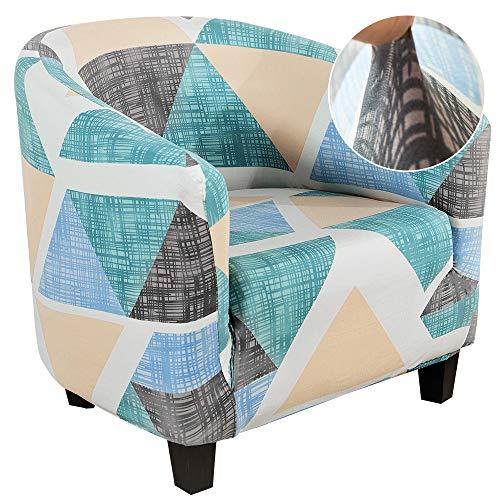 NIBESSER Fundas para sillones, fundas para sillones, fundas para sillones, fundas de silla de tina impresas, extraíble, lavable, para bar, sala de estar, recepción (verde/blanco)