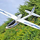 ZJDM Avión de Control Remoto RC Planeador Avión de Control de Radio de 2,4 GHz con estabilizador de Giro de 6 Ejes para Principiantes