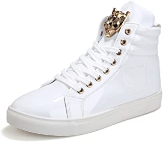 Men's Teenagers Fashion Sneakers Basketball Patent Gym Training Running Stylish Casual Shoes
