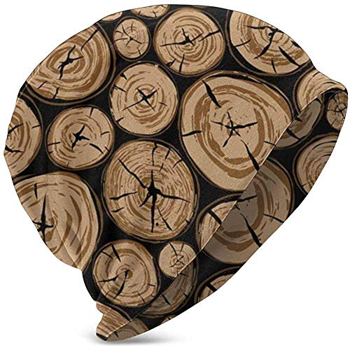 Pila Madera Redonda Elementos de Forma orgnica Registro Naturaleza Kid 'S Invierno Sombreros de Punto clido Gorro elstico Suave Gorro Calavera para nios Nias