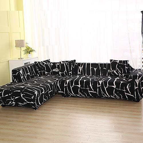 ASCV Funda de sofá con patrón geométrico para sofá seccional en Forma de L Funda de sofá Toalla de sofá Fundas de sofá para Sala de Estar A4 2 plazas