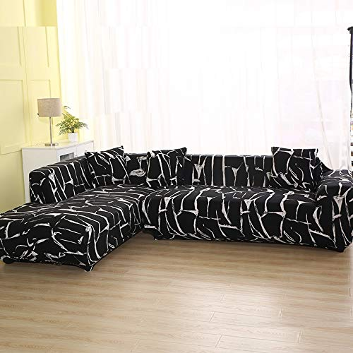 ASCV Geometric Pattern Sofa Cover for L Shaped Sectional Sofa Couch Cover Sofa Towel Sofa Covers for Living Room A4 2 seater