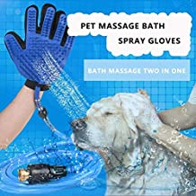 LUCKY RAY -Dog Shower Sprayer Bath Glove – Full Clean in 5 Minutes, Gentle Silica Gel and Nylon Calms and Anxious Pets - with 3 Faucet Adapters for Dog Cat Horse Indoor Outdoor Use (Upgrade Version)
