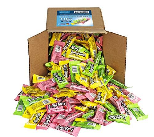 A Great Surprise Chicloso laffy del surtido de sabores de frutas, manzana verde cereza plátano caramelo a granel partido caja 6 x 6 x 6 tamaño de la familia Laffy Taffys