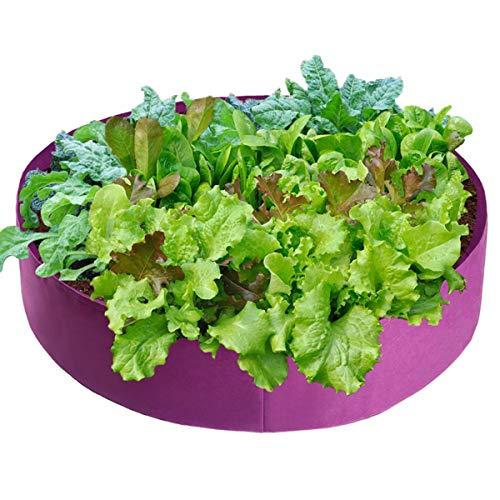 AYUSHOP Bolsa de cultivo de tela no tejida, 2 unidades, con asa, bolsa de plantacin para patatas, tomates y fresas, flores, accesorios de riego automtico, lila, 15 galones