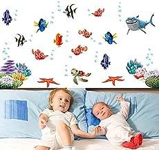 Best Choise Product Finding nemo Under sea Shark Fish 3D Cartoon Waterproof Wall s Stickers for Kids Rooms Bathroom Nursery Room Decor Kids