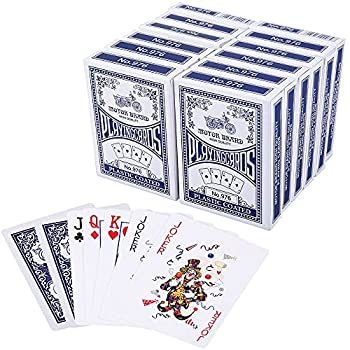 LotFancy Playing Cards Poker Size Standard Index Decks of Cards  Blue or Red  for Blackjack Euchre Canasta Card Game Casino Grade