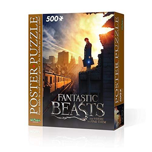Wrebbit 3D Puzzle Puzzle de póster de la Ciudad de Nueva York con Las Bestias fantásticas y dónde encontrarlos