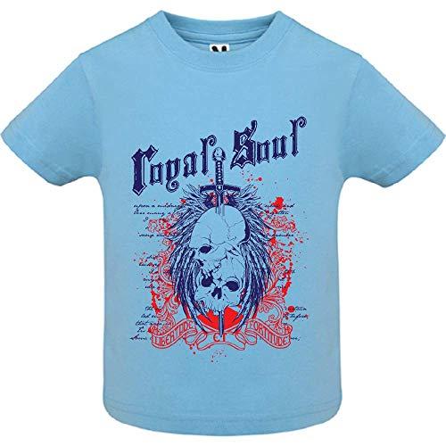 LookMyKase T-Shirt - Royal Soul 3 - Bébé Garçon - Bleu - 12mois