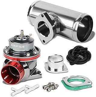 PT-ZTL-8012+FP-G250 タイプ-FV 調節可能 30 PSI ブローオフバルブ BOV+シルバーアルミニウム 2.5インチOD ストレートフランジパイプ Flange Pipe: Silver XUR-BLOVA-PT8012T...