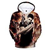Mempire Unisex Sudadera con Capucha 3D Printed Sam Dean Winchester Brothers Hooded Sweatshirt Pullover Novedad Hoody Casual (E,L)