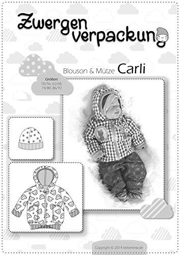Carli Farbenmix Schnittmuster (Papierschnittmuster für die Größen 50/56-86/92) Blouson und Mütze